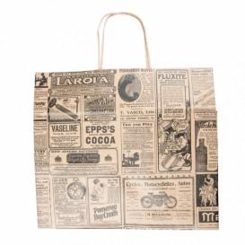 "Paper Bag with Handles Kraft ""Times"" 80g 26+14x32cm (250 Units)"