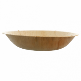 Palm Leaf Bowl Round Shape Ø18x3,5cm (25 Units)