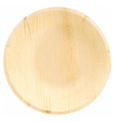 Palm Leaf Bowl Round Shape Ø18x3,5cm (25 Units)