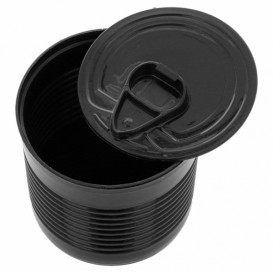 Tasting Plastic Tin Can PS Black 220ml Ø7,4x7cm (100 Units)