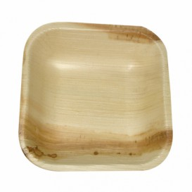 Palm Leaf Mini Plate Square Shape 10x10x2,5cm (200 Units)
