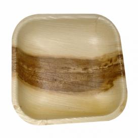 Palm Leaf Mini Plate Square Shape 11,5x11,5x1,5cm (200 Units)