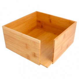 Bamboo Napkin Holder 21x21x10cm (12 Units)