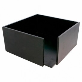 Black Bamboo Napkin Holder 21x21x10cm (12 Units)