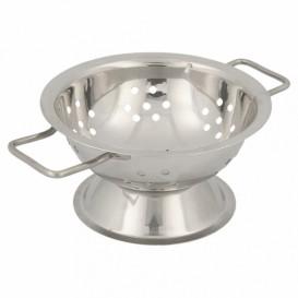 Serving Mini Colander Bowl Steel Ø9,7x5,5cm (12 Units)