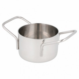Serving Mini Cooking Pot Bowl Steel Ø8x4,5cm (6 Units)