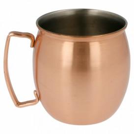 Serving Mini Jar Copper Steel 420ml Ø8x9cm (6 Units)