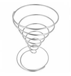 Serving Basket Containers Steel Ø13x23cm (6 Units)