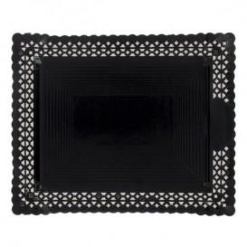 Paper Doilies Round shape Black 200 mm (50 Units)