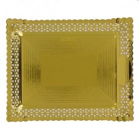 Paper Doilies Round shape Gold 200 mm (100 Units)