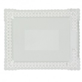 Paper Doilies Round shape White 200 mm (100 Units)