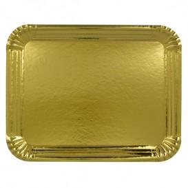 Paper Tray Rectangular shape Gold 14x21 cm (100 Units)