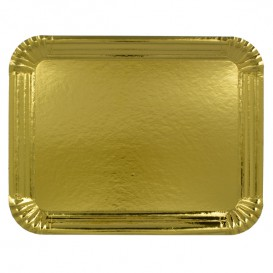 Paper Tray Rectangular shape Gold 10x16 cm (100 Units)