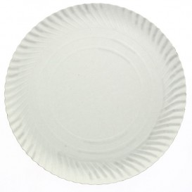Paper Plate Round Shape White 21cm 500g/m2 (800 Units)