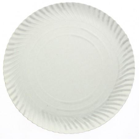 Paper Plate Round Shape White 23cm (300 Units)