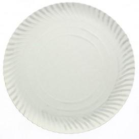 Paper Plate Round Shape White 38cm (50 Units)