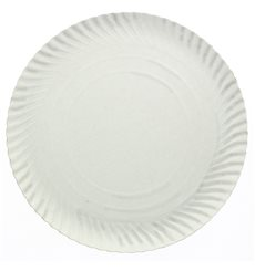 Paper Plate Round Shape White 180 mm 500g/m2 (100 Units)