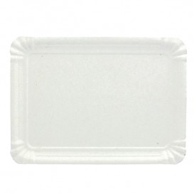 Paper Tray Rectangular shape White 14x21 cm (100 Units)
