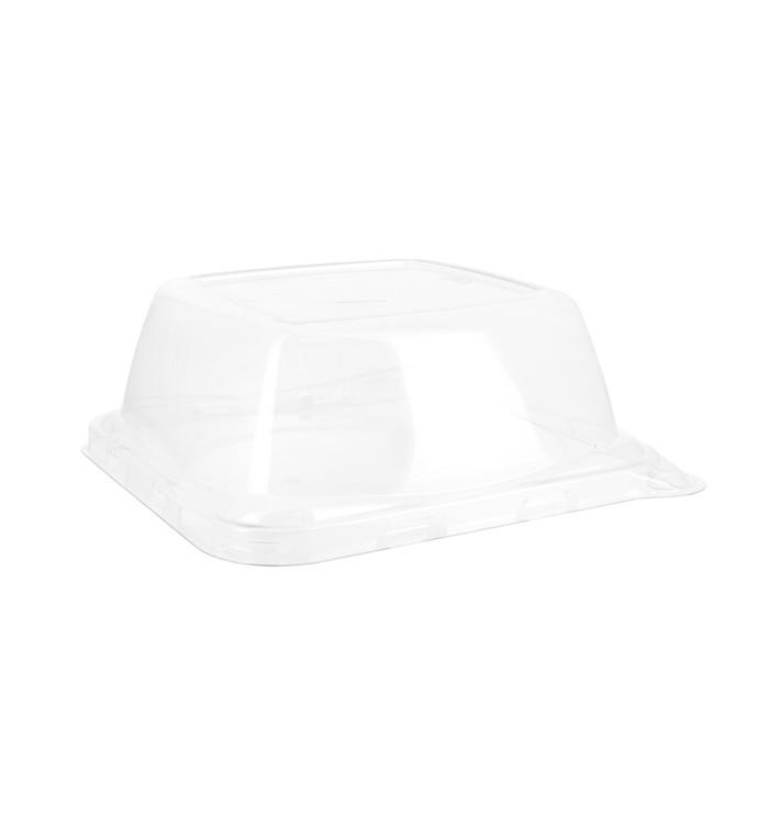 Plastic Lid for Sugarcane Food Container 14x14x5,5cm (300 Units)