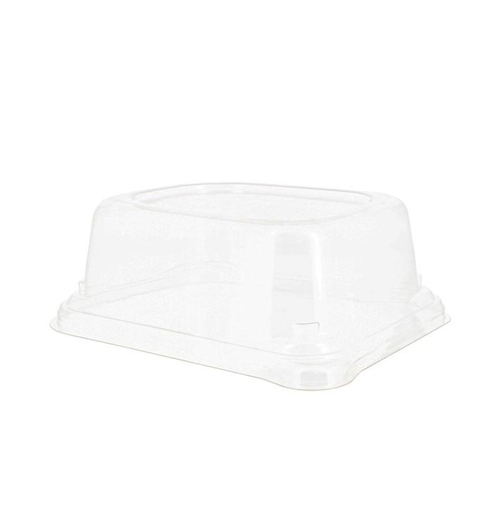 Plastic Lid for Sugarcane Baguette Container 14x11x5cm (75 Units)