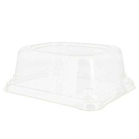 Tapa PET para Envase Caña de Azúcar 14x11x5cm (75 Uds)