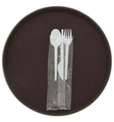 Plastic Cutlery kit PS Fork, Knife and Spoon (500 Units)