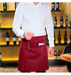 Serving apron pocket Burgundy 75x50cm (1 Unit)