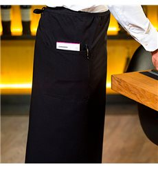 Serving French apron 2 pocket Black 90x110cm (1 Unit)