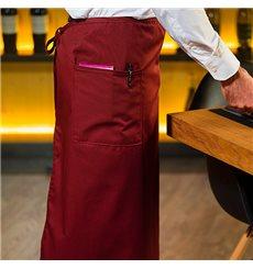 Serving French apron 2 pocket Burgundy 90x110cm (20 Uts)