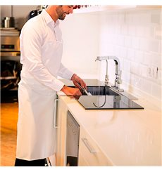 Serving apron Plasticized White 75x90cm (20 Uts)