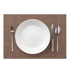 "Placemat ""Day Drap"" Cotton Recycled Brown 32x45cm (12 Units)"