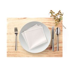 "Cotton Placemat ""Day Drap"" Wood 32x45cm (12 Units)"