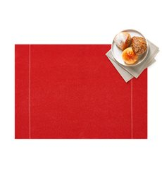 "Cotton Placemat ""Day Drap"" Red 32x45cm (72 Units)"