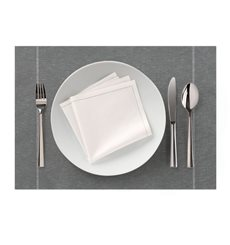 "Cotton Placemat ""Day Drap"" Anthracite 32x45cm (12 Units)"
