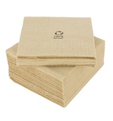"Decorative Paper Napkin Eco ""Recycled"" 20x20cm 2C (100 Units)"