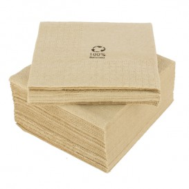 "Decorative Paper Napkin Eco ""Recycled"" 20x20cm 2C (6000 Units)"