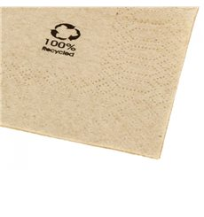 "Decorative Paper Napkin Eco ""Recycled"" 40x40cm (2400 Units)"