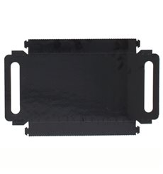 Paper Tray with Handles Rectangular shape Black 16x23 cm
