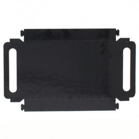 Paper Tray with Handles Rectangular shape Black 30x12 cm (600 Units)