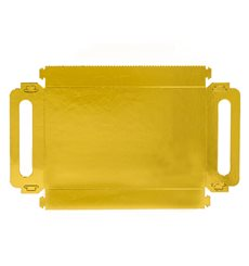 Paper Tray with Handles Rectangular shape Gold 16x23cm