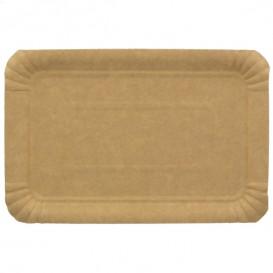 Paper Tray Rectangular shape Kraft 14x21 cm (100 Units)