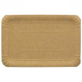 Paper Tray Rectangular shape Kraft 14x21 cm