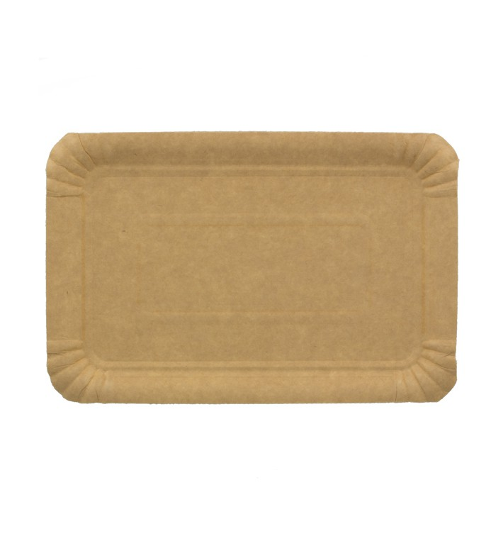 Paper Tray Rectangular shape Kraft 14x21 cm