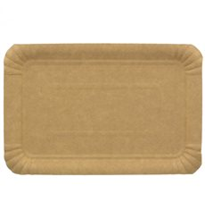 Paper Tray Rectangular shape Kraft 14x21 cm (100 Units)