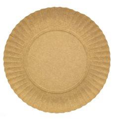 Paper Plate Round Shape Kraft 18cm (100 Units)