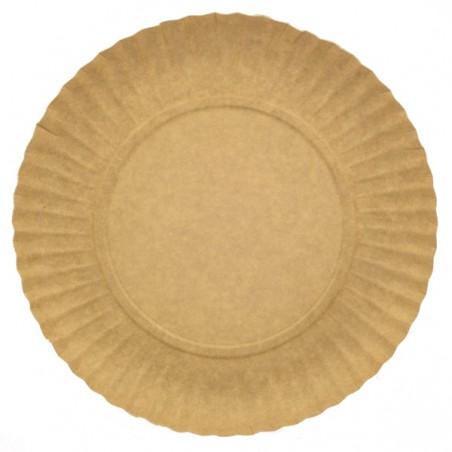 Paper Plate Round Shape Kraft 21cm (700 Units)