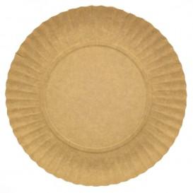 Paper Plate Round Shape Kraft 25cm (100 Units)