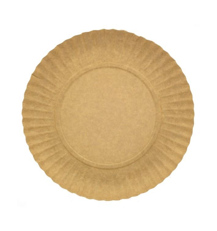 Paper Plate Round Shape Kraft 25cm 255g/m2