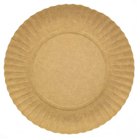 Paper Plate Round Shape Kraft 25cm (500 Units)