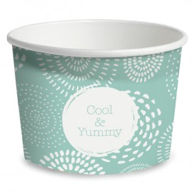Paper Ice Cream Container Cool&Yummy 9Oz/260ml (55 Units)